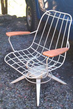 Have A Seat Vintage Mid Century Metal Swivel By Vidaliasvintage Rh  Pinterest Com Swivel Rocker Chair Antique Swivel Desk Chair Parts