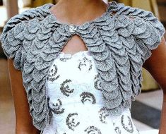 crochet bolero - stacked motif, would work with any small medallion motif