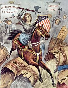 Prohibition and the Woman's Holy War (aka The Temperance Movement). Currier & Ives, ca 1874