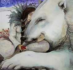Polar Bear Illustration by Jackie Morris Art D'ours, Image Halloween, East Of The Sun, Photo D Art, Bear Art, Children's Book Illustration, Watercolor Illustration, Pics Art, Native American Art