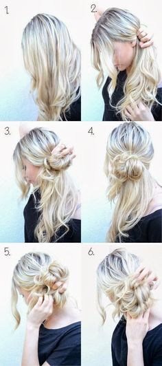 DIY | Easy Messy Updo Tutorial