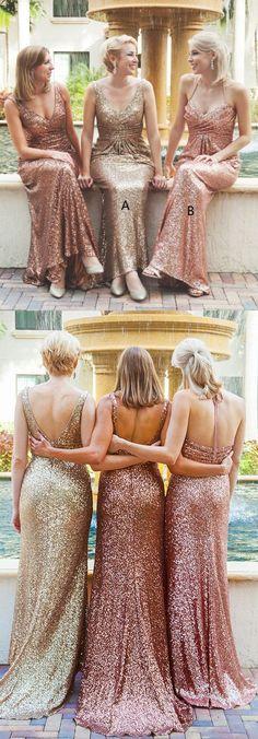 Gold Sequin Bridesmaid Dresses, Sequin Bridesmaid Dresses, Long Bridesmaid Dresses, Gold Bridesmaid Dresses, Tulle Bridesmaid Dresses, Gold Sequin dresses, Long Gold dresses, Sleeveless Bridesmaid Dresses, Zipper Bridesmaid Dresses