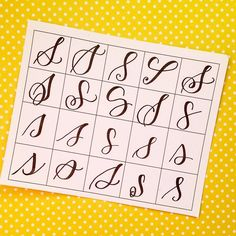20 ways to write the letter S by @letteritwrite • see also the video of her writing the letters