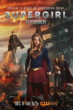 Elseworlds Crossover The Flash Arrow Supergirl Batwoman Supergirl Season, Supergirl Superman, Supergirl And Flash, Supergirl Series, Supergirl 2015, Series Dc, Dc Comics Series, The Cw, The Flash