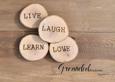 """4 Rustic Wood Coasters 3.5-4"""" diameter solid oak Reclaimed, Raw, UNTREATED! Handmake in the USA 4 Wooden Slices, Wedding Favors, Decoration"""