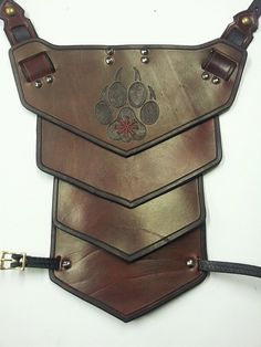 Leather Armor Sentinel segmented shoulder by SharpMountainLeather