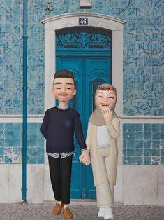 Cute Cartoon Pictures, Cute Love Pictures, Cute Love Cartoons, Cute Muslim Couples, Cute Couples, Muslim Images, Muslim Couple Photography, Islamic Cartoon, Cute Emoji Wallpaper