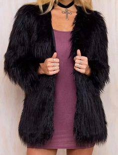 Shop a great selection of Simplee Apparel Simplee Apparel Women's Long Sleeve Fluffy Faux Fur Warm Coat. Find new offer and Similar products for Simplee Apparel Simplee Apparel Women's Long Sleeve Fluffy Faux Fur Warm Coat. Warm Coat, Winter Coat, Shaggy Fur Coat, Coats For Women, Jackets For Women, Black Fur Coat, Street Style, Fur Jacket, Faux Fur