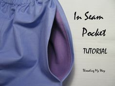 An in seam pocket is so easy to add to pants, skirts or shorts. This tutorial will show you how to easily add an in seam pocket to a project you are making ~ Threading My Way