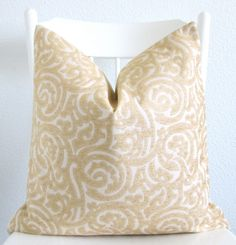 Brunschwig & Fils, high end designer pillow cover.  Decorative pillow cover  Throw pillow  20x20  by chicdecorpillows, $50.00