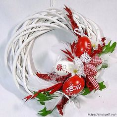 117 (507x507, 166Kb) Handmade Christmas Decorations, Valentine Decorations, Christmas Diy, Christmas Ornaments, Spring Projects, Spring Crafts, Easter Wreaths, Holiday Wreaths, Easter Sunday Images