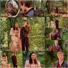 Arthur checking himself out in the dinner plate was perfect. And Merlin, always the matchmaker Merlin Show, Merlin Fandom, Merlin Gwen, Merlin Tv Series, Merlin And Arthur, King Arthur, Arthur And Guinevere, Merlin Funny, Merlin Memes