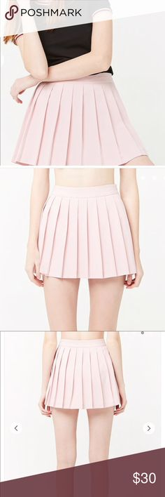 38b4bcfbc Spotted while shopping on Poshmark: Pink pleated skort! #poshmark #fashion # shopping
