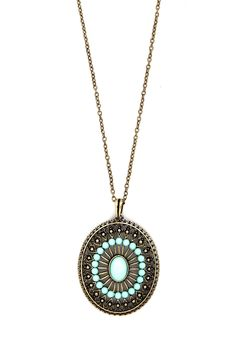 Eye of Elegance Necklace. When you grace your garments with this exquisite necklace, you know that all eyes will be on you wherever you should roam. #green #modcloth