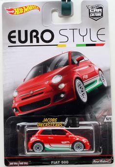 1:64 HOT WHEELS CAR CULTURE EURO STYLE - FIAT 500 - 5 of 5 * DJF77-956B #HotWheels #Fiat