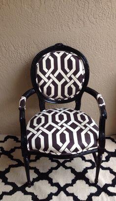louis xvi arm chairblack chairdining chairdesk chair - Black And White Striped Chair