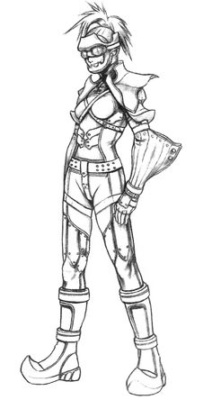 Week 10 - Final Fantasy X - Concept Art Mon - Rikku Sketch
