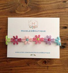 Flower Baby Headband, Baby Headband, Daisy Headband, flowers, baby, toddler by HaidlesBoutique on Etsy https://www.etsy.com/listing/278936682/flower-baby-headband-baby-headband-daisy