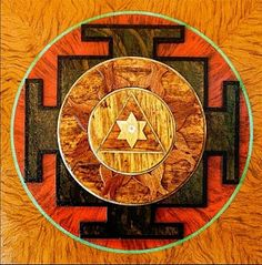 Krishna Yantra Painting - Ganesha Sacred 3d High Relief Artistically Crafted Wooden Yantra    23in X 23in by Peter Clemens