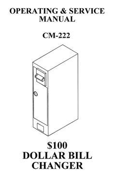 Antares Dollar Bill Changer, CM 222 Operation Manual