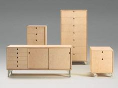 jasper morrison Universal System Universal System 1990 Storage system in plywood with cast aluminium feet or wheels. Produced by Cappellini, Italy Photo: Santi Caleca/Cappellini Furniture, Furniture Design Modern, Furniture Hacks, Plywood Furniture, Interior Furniture, Cnc Furniture, Furniture Making, Furniture Inspiration, Furniture Design