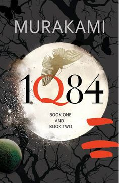 1Q84 by Haruki Murakami…UK edition…notice the lack of the author's first name…love the combination of elements—type, illustration, photography, organic brush strokes—that create this beautiful edition...