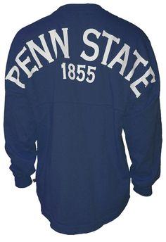 Penn State Women's Long Sleeve Spirit Tee | Tshirts > WOMENS > LONG SLEEVE navy sz xsm