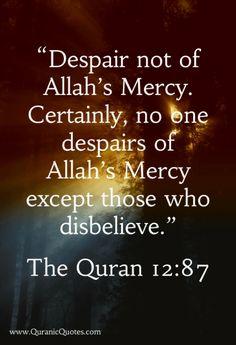"#33 The Quran 12:87 {Surah Yusuf (Joseph)} ""(And Jacob said): O my sons, go and…"