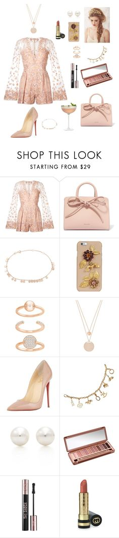 """#164"" by tamara-wolfram ❤ liked on Polyvore featuring Zuhair Murad, Mansur Gavriel, Kismet by Milka, Dolce&Gabbana, Swarovski, Christian Louboutin, Cartier, Tiffany & Co., Urban Decay and Yves Saint Laurent"