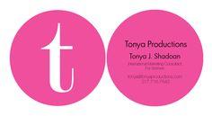 T productions women business coach pink round die-cut business card design #Bossladystudio
