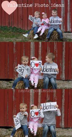 DIY #Valentine Photo Ideas via Nest of Posies  #Valentines