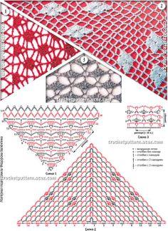 узоры для шали-3     http://crochetpattern.ru/index/soderzhanie/0-11