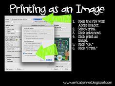 Printing as an Image