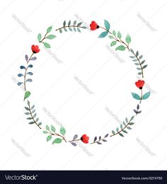 Vector image of Floral frame Vector Image, includes paint, white, design, drawing & flower. Illustrator (.ai), EPS, PDF and JPG image formats.