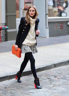 Le gros pull  Olivia Palermo dans les rues de New York