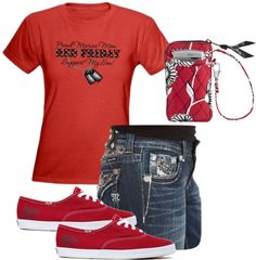 """""""Red Friday - Proud Marine Mom"""" by lkthompson on Polyvore"""