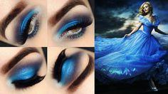 maquiagem inspirada no vestido da Cinderela <3