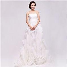 2013 China Yarn vera wang wedding classic Bra-dimensional fold flowers small trailing wedding organza 9074