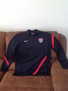 Team USA Blue Long Sleeve Dri-Fit Light Weight Pullover Warmup Soccer Jersey L | Sports Mem, Cards & Fan Shop, Fan Apparel & Souvenirs, Soccer-National Teams | eBay!