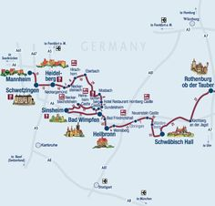 """burgenstrasse: """"castle road"""" in southern germany. dozens of castles and palaces -- this site even tells you which ones you can stay in!"""