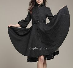 Women's trench coat female coat during the spring and autumn winter long shadow big coat coat of cultivate one's morality on Etsy, $76.33