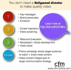 You don't need a Hollywood director to make quality video
