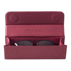 DailyObjects Burgundy Leather Eyewear Case Buy Online in India - DailyObjects Pouch, Wallet, Mobile Cases, Travel Essentials, Card Case, All In One, Eyewear, Online Shopping, Burgundy