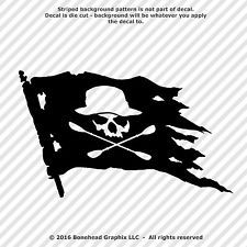 Kayak Flag Decal Skull With Hat and Oars Canoe 8.5 inch Vinyl Window Sticker