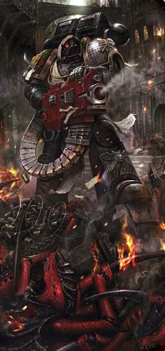 The Deathwatch are a unique and specially trained Space Marine Chapter that dedicates its every hour to xenos hunting. They are the Chamber Militant of the Ordo Xenos, charged with protecting it in its search of information, containment, and ultimate destruction of all xeno species.