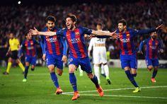 Lataa kuva Sergi Roberto, 4k, FC Barcelona, jalkapallo, Barca, La Liga, keskikenttäpelaaja