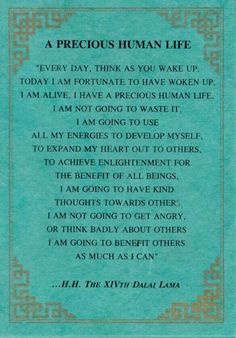 dalai lama every day wake up and think - Google Search