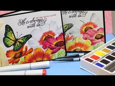 No Line Coloring: Copic and Watercolor - YouTube