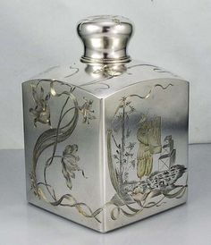 Russian antique silver tea caddy