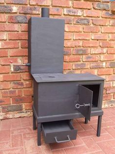 Homemade? Wood stove for heating and cooking.  Interesting!